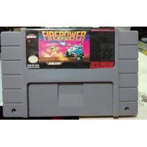 Fita Firepower 2000 Cartucho Super Nintendo Jogo Snes