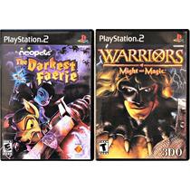 Neopets The Darkest Faerie E Warriors Of Might Originais Ps2