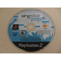 Singstar Pop Ps2 Original Americano Somente Disco