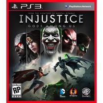 Injustice Gods Among Us Ps3 - Dublado Em Portugues Br - Psn