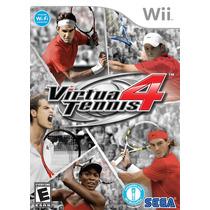 Virtua Tennis 4 / Wii - Jogo Novo, Original E Lacrado!