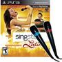 Jogo De Musica Singstar + 2 Microfones Original Da Sony Ps3