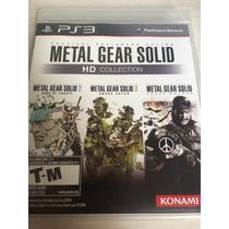 Metal Gear Solid Hd Collection Para Ps3 Novo E Lacrado Mídia