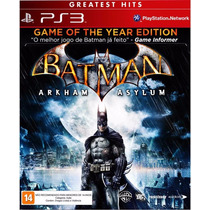 Ps3 - Batman: Arkham Asylum (game Of The Year) - Em Disco