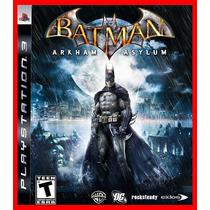 Batman Arkham Asylum Ps3 Psn Promocao