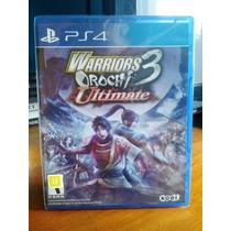 Warriors Orochi 3 Ultimate Ps4 Em Disco Lacrado Em Leilão