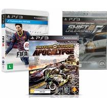 Nfs Shift 2 + Fifa 14 + Motorstorm Apocalypse Ps3 Rcr Games