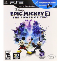 Epic Mickey Disney 2 The Power Of Two - Jogo Infantil Ps3