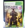 Jogo Gears Of War 3 Xbox 360, Original, Lacrado, Novo