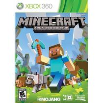 Minecraft Para Xbox 360 Midia Fisica + Nf + Frete Gratis