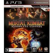 Jogo Ps3 Mortal Kombat Komplete Edition Dvd Zero Completo