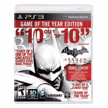 Batman Arkham City Goty Ps3 Legendado + Pôster Brinde