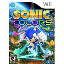 Sonic Colors Novo Lacrado Wii Nintendo Wii Original