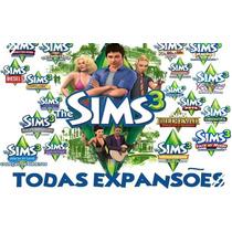 The Sims 3 + Todas Expançoes ( Frete 5.00 Para Todo Brasil)