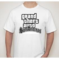 Camiseta Gta San Andreas - Clássico Games 100% Algodão