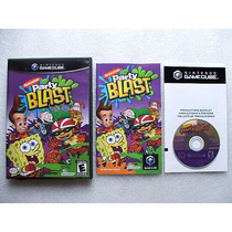 Game Cube: Nickelodeon Party Blast Americano Completo! Raro!