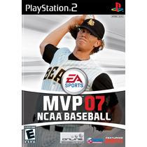 Jogo Mvp 07 Ncaa Baseball Original Para Playstation 2 A6684