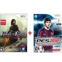 Nintendo Wi Kit Jogo Prince Of Persia+pes2010 Garantia Edt