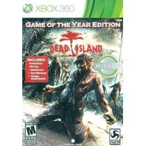 Jogo Dead Island Game Of The Year Edition Original Xbox 360