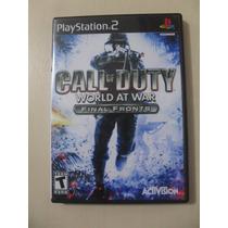 Call Of Duty World At War Final Fronts Ps2 Original American