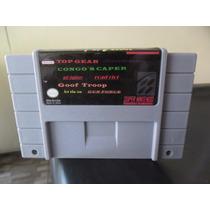 8 Jogos Super Nintendo, Goof Troop, Top Gear, Congos Caper..