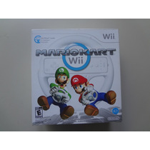 Nintendo Wii - Mario Kart Com Volante Original Lacrado