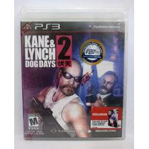 Kane & Lynch 2 Dog Days - Jogo Ps3 Novo Lacrado Mídia Fisica