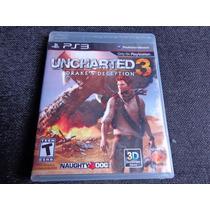 Uncharted 3 Drakes Deception Play3 Dubl. Usado Frete Gratis
