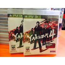 Jogo Yakuza 4 Playstation 3, Mídia Física, Original Ps3