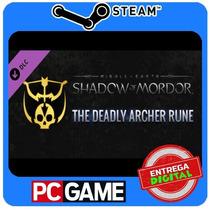 Shadow Of Mordor - Deadly Archer Rune Dlc Pc Steam Cd-key