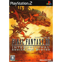 Final Fantasy Xii Internacional Zodiac Ps2 Patch Frete Unico