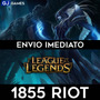 League Of Legends Lol - 1855 Riot Points Rp Br - Imediato