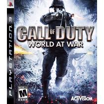 Call Of Duty World At War - Ps3 - Novo - Leilão R$1,00