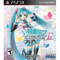 Jogo Novo Hatsune Miku Project Diva F 2nd Para Playstation 3