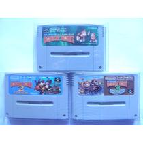 Donkey Kong Country 1 2 3 Original Super Nintendo Snes Sfc