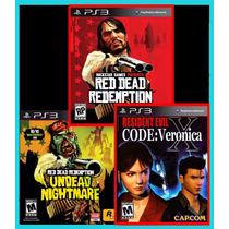 Combo Red Dead + Undead Nightmare + Re Code Veronica Ps3 Psn