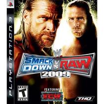 Jogo Ps3 Smackdown Vs Raw 2009 Original Lacrado Mídia Física