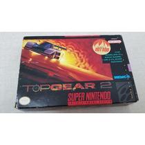 Jogo Top Gear 2 Super Nintendo Completo Tudo Original
