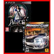 Midnight Club Los Angeles E Alice Madness Returns Ps3 Psn