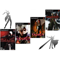 4 Patches Devil May Cry 1, 2 (2 Discs) E 3 Dmc Play2 - Mod