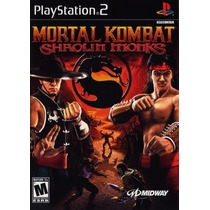 Mortal Kombat Shaolin Monks Ps2 Patch Disco Impresso