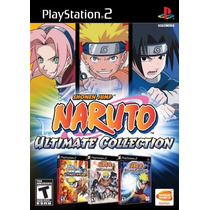 Jogo Box Naruto Ultimate Collection Para Ps2 A9564