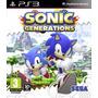 Sonic Generations Mídia Física Lacrado - Ps3