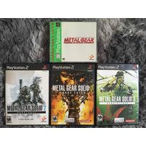 Novos Kit Jogos Metal Gear Solid 1, 2, 3 Ps1 Ps2 Cx Mnl 100%