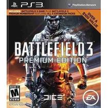 Battlefield 3 Premium Edition Ps3 Dlc Código Psn Receba Hoje