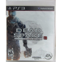 Dead Space 3 Ps3 Limited Edition Novo Lacrado Midia Bluray