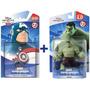 Bonecos Disney Infinity 2.0 Capitão América + Hulk