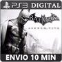 Batman Arkham City Mais Dlc Ps3 Psn Play 3 Via Email
