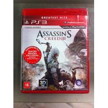 Assassins Cred 3 Ps3 +3d Frete R$7,90 Todo O Brasil.