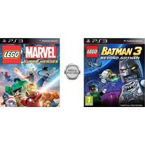 Lego Marvel + Lego Batman 3 - Midia Digital Psn Jogo Ps3